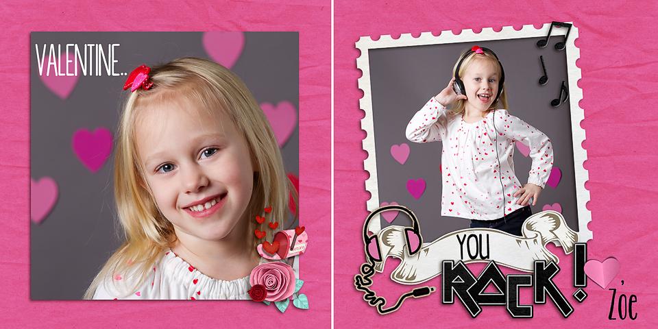valentine example Rock on   Creative Valentine Idea